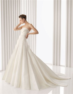 Empire strapless court train Wedding dresses BLRC018