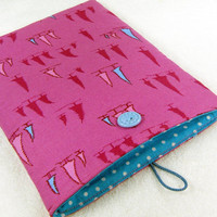 Kindle case padded cover sleeve ereader Kobo Nook Color Galaxy Tab Kindle 1 2 3 4 Kindle Fire tablet pink blue trees - tui - Ready to ship