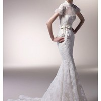 Wholesale Mermaid Sweetheart Short Sleeve Floor Length Gown with Lace CONCORD for $329.00 from China : IndeedBuyer.com.  - IndeedBuy