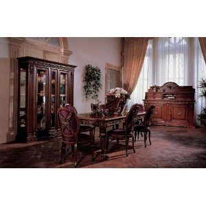 Amazon.com: San Marco Dark Walnut Dining Set 8 Piece: Home & Kitchen