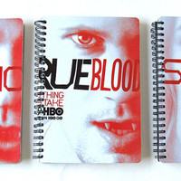True Blood 2012 - 2013 Daily Planner / Calendar UpCycled (Eric Bill and Pam Cover Choices)