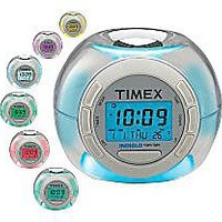 Timex T035 Color Changing Alarm Clock w/ Soothing Sounds (White)
