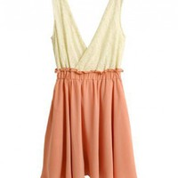 Women Lace And Chiffon High Waist Fitting One Size Dress @H3402 - $8.15 : DressLoves.com.