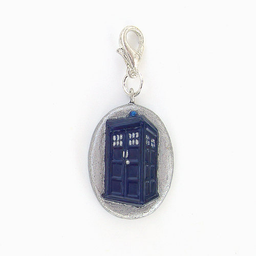 Tardis Doctor Who Charm With Silver.. on Luulla