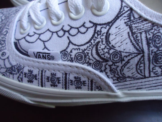 Custom Vans True White