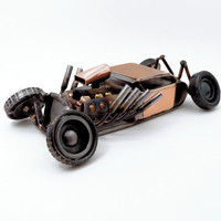 Bad News Metal  Hot Rod Sculpture
