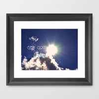 Every Cloud Framed Art Print by Rachel Burbee | Society6