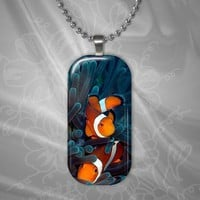 SeaLife Collection Puffy Rectangle Pendant #1