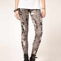 ASOS Leggings in Tie Dye Print at asos.com