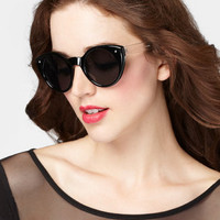 Black Crystal Cat Eye Sunglasses