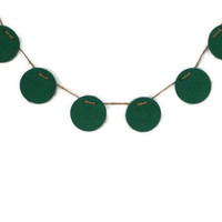 Chalkboard Banner Sign - Classic Green - 6 Reusable Circles - Rustic Wedding Decor