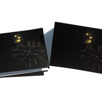Abstract Modern Art Photography Cosmic Celestial Fireworks Invitations Greeting Thank You Blank Card - Set of 6 w/ Envelopes
