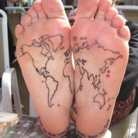 I want it / Fuck Yeah, Tattoos! ? Map of the World because I went all the way around...