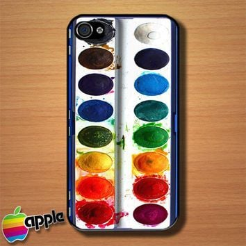 Watercolor Set Custom iPhone 4 or 4S Case Cover