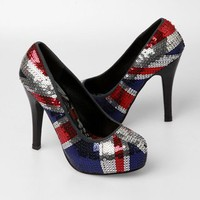 Iron Fist Jacked Up Platform Heels - British Flag