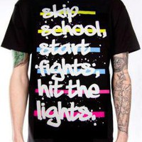 Hit The Lights, T-Shirt, Skip School Start Fights