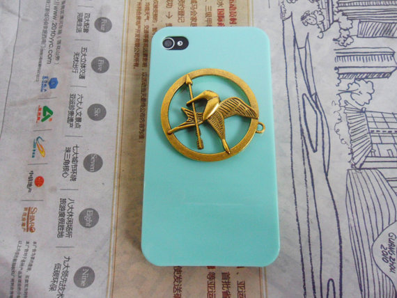 Hunger Games Logo ,Inspired Mockingjay Baby hard case cover--for Apple iPhone 4 Case, iPhone 4S hand Case, iPhone 4 GS hand Case  093