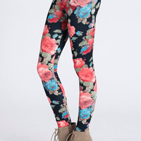 Jasmine Garden Leggings - $32.00: ThreadSence, Women&#x27;s Indie &amp; Bohemian Clothing, Dresses, &amp; Accessories