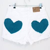 Heart Pocket High Waisted Shorts