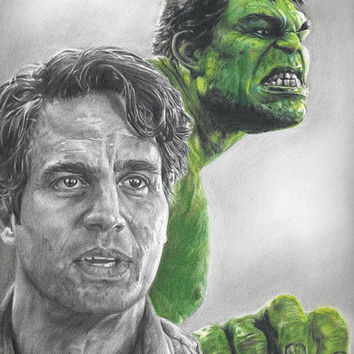Drawing of Hulk / Bruce Banner (Mark Ruffalo) from Avengers