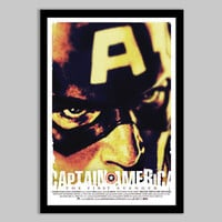 Captain America-The First Avenger  - 12x18 - Movie Poster - captain america, movie poster, comic book, marvel, geekery, geek