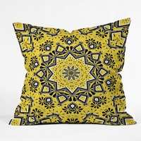 DENY Designs Home Accessories | Lisa Argyropoulos Retroscopic In Lemon Throw Pillow