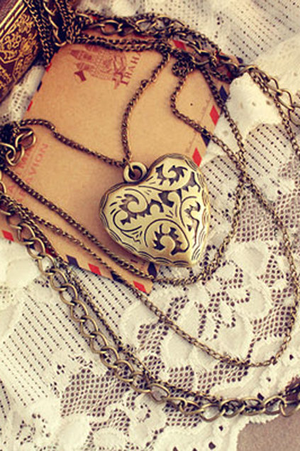 Love Pendant Multilevels Necklace [AN1052] - $12.99 :