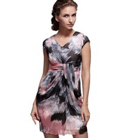Printed Chiffon Dress - Designer Shoes|Bqueenshoes.com