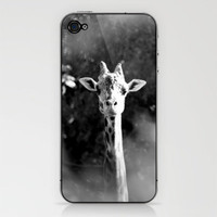 portrait of giraffe iPhone &amp; iPod Skin by Marianna Tankelevich | Society6