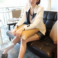 Women One Size Elegant White Blends Lapel Outwear@T210 - $15.31 : DressLoves.com.