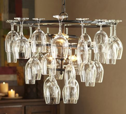 Wine Glass Rack Chandelier