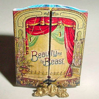 Miniature BEAUTY and the BEAST Theater Book - McLoughlin Bros - 1891 - One Inch Scale Dollhouse Book