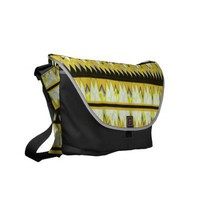 Modern Abstract Fractal Aztec design Courier Commuter Bag from Zazzle.com