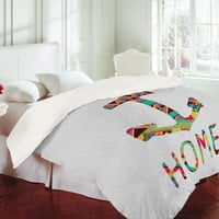 Bianca Green You Make Me Home Duvet Cover - Luxe Duvet Cover /