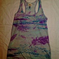 Tuanis — C&S Feather Print Tank Top
