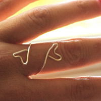 Heart Wire Ring, Silver Ring, Love Ring