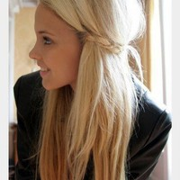 hair / little braid tie-back
