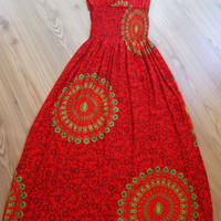 Sale WAS 25.90 NOW USD 22.90 / Red - Summer dress -  Maxi Dress - Size: S - M