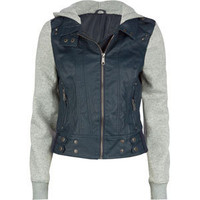 FULL TILT Fleece/Faux Leather Womens Hooded Jacket 180800210 | Jackets | Tillys.com