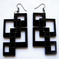 Interlock SQUARES EARRINGS