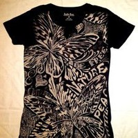 Tuanis — Lucky Tees Flower Design Cut V-Neck