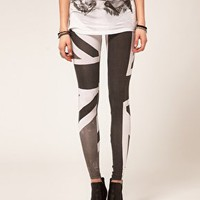 Religion Union Jack Leggings at asos.com