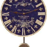 Room and Home / Blue Toile French Country Wall Clock