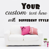 Large Custom Vinyl Wall Quote Decal Sticker,Lettering Words Art Quotes Decals
