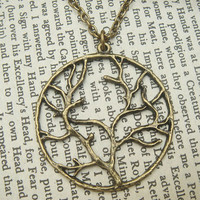 Vivid Tree Brass Necklace