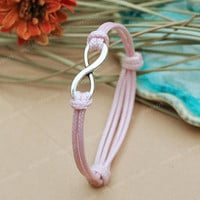 Infinity Bracelet-pink string karma infinity bracelet, girl friend gift bracelet, gift for girlfriend