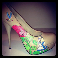 Alice In Wonderland High Heels by Kdzines
