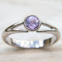 Ethical Pink Sapphire 18ct Gold Ring - Size N