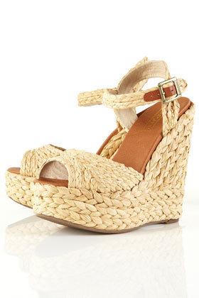 WEAVER Raffia Straw Wedges - Heels  - Shoes