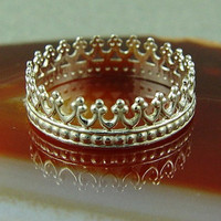 Silver Crown Ring / Queen's Crown Ring